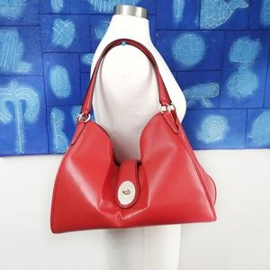 Coach Red Carlyle Shoulder Bag